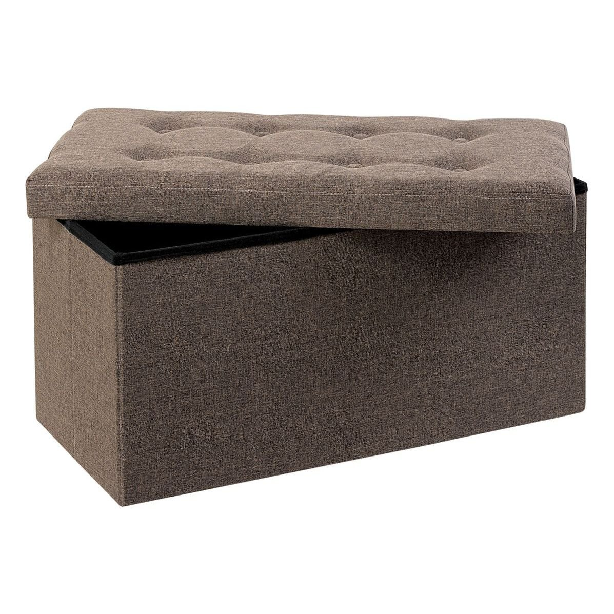 Caja y asientos puffs