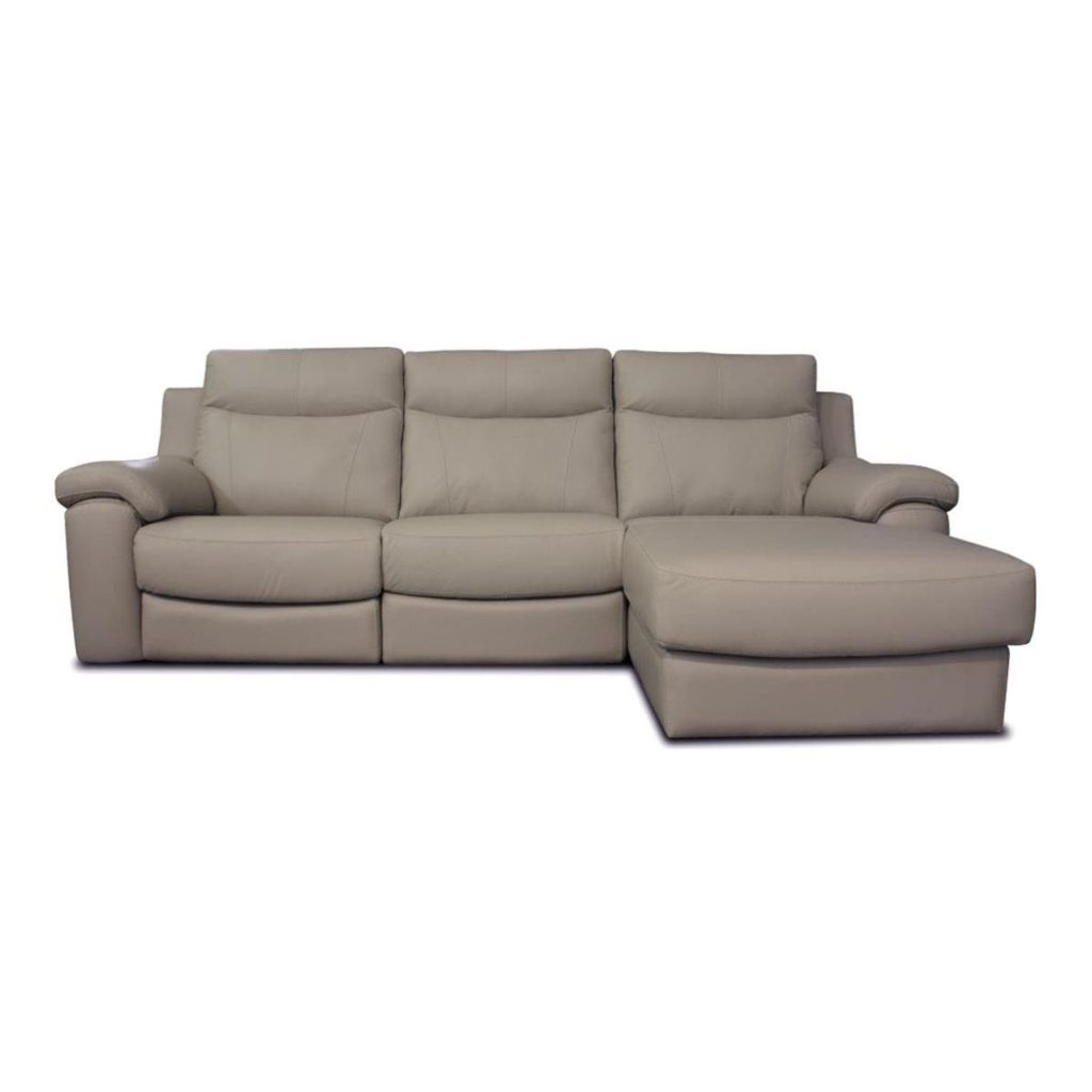Sof chaise longue de piel im genes y fotos for Sofa cama chaise longue piel