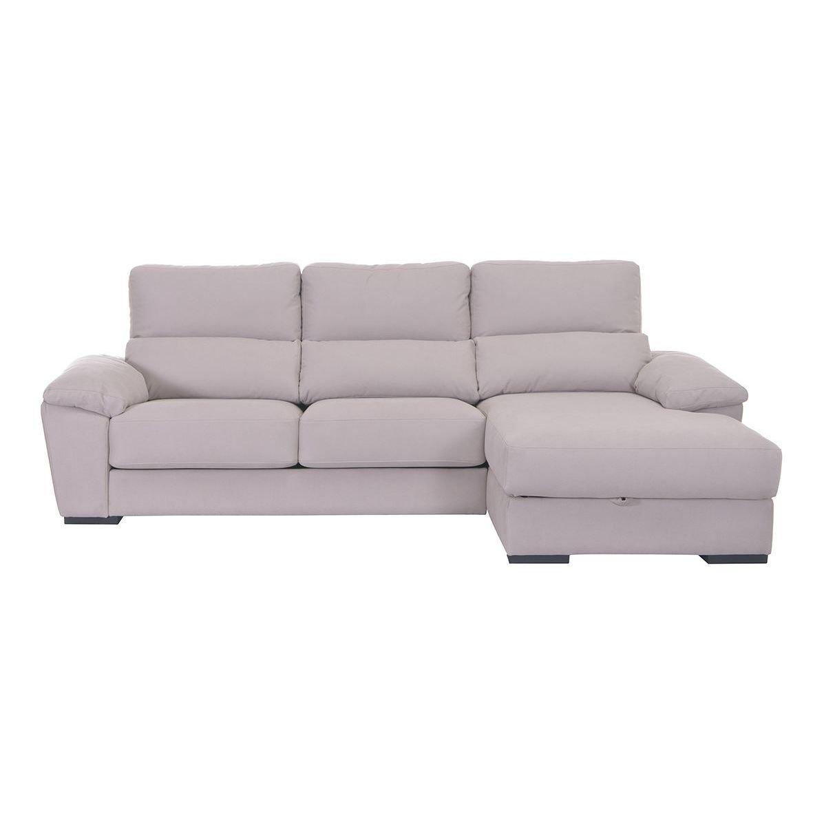 Sofá con asientos deslizantes y chaise longue