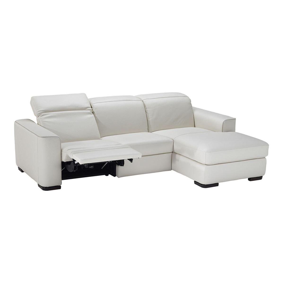 Sofá de dos plazas con chaise longue incluida