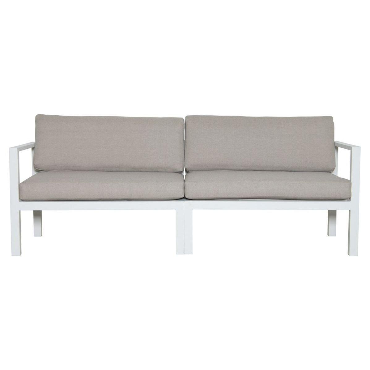 Sofa de hierro 3 plazas para el exterior
