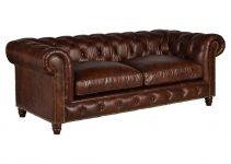 Sofá de piel estilo Chester