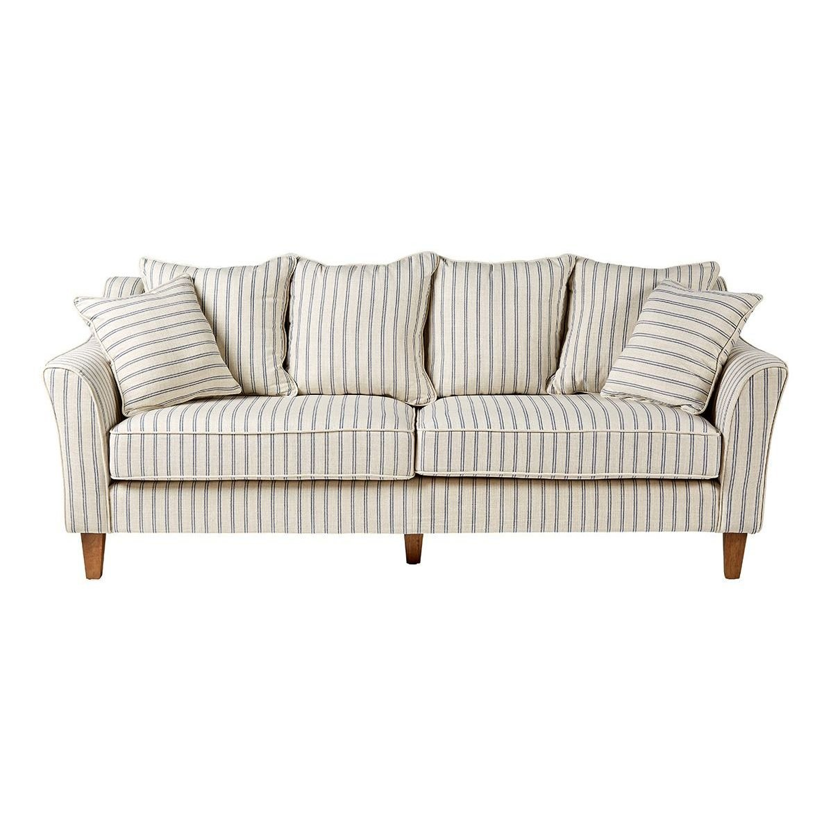Sofá tapizado a rayas